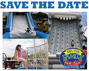 Save the date for the Family Fun Fair on March 25