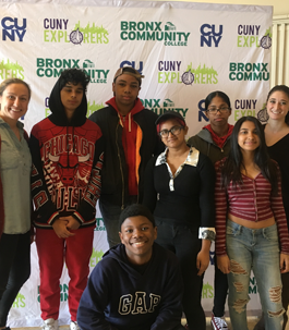 students at a Bronx community event
