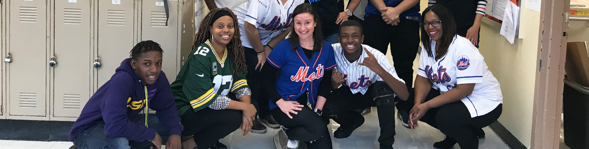 students wearing sports jerseys