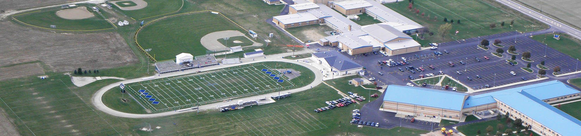 Aerial view of the Western Reserve campus