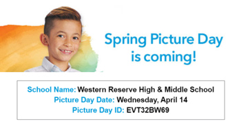 Spring picture day flyer