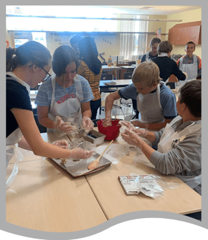 Students doing a hands on activity
