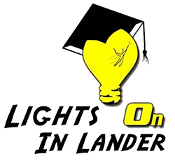 Lights on in Lander logo