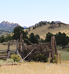 an old fence and corrals