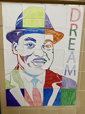Martin Luther King Jr colorful image