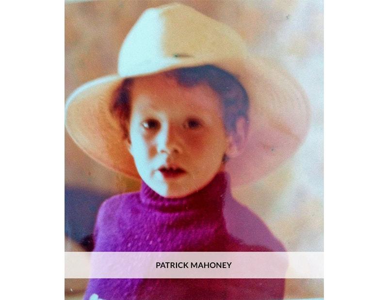 Patrick as a boy