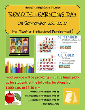 Remote Learning Day flyer
