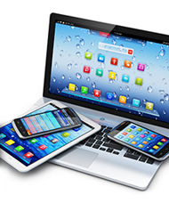 Laptop, tablet and cellphones