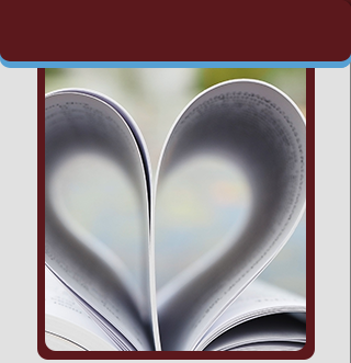 Book opened in the shape of a heart