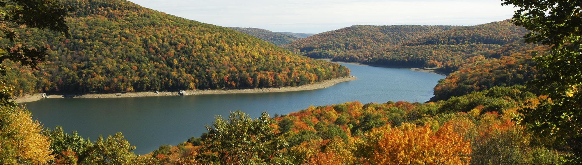 Overlook of Allegheny Reservoir