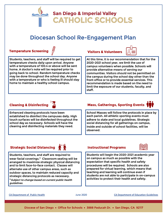 Diocesan School Re-Engagement Plan
