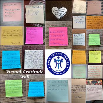Virtual gratitude wall example