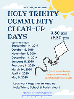 Holy Trinity Community Clean Up Days flyer