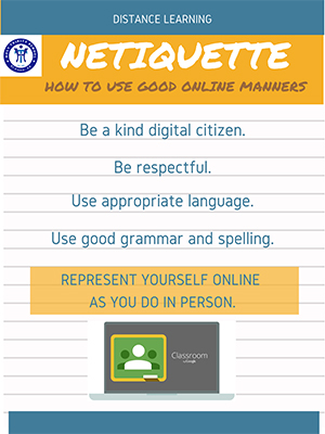 View the Nettiquette How to use good online manners flyer.