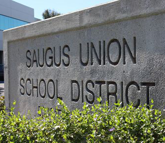 exterior sign that says Saugus Union School District