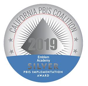 California PBIS Coalition Emblem Academy SILVER Award for 2019