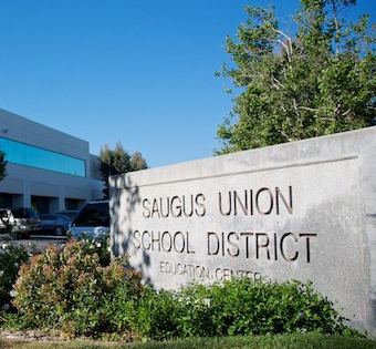 Sign that says Saugus Union School District Educational Center
