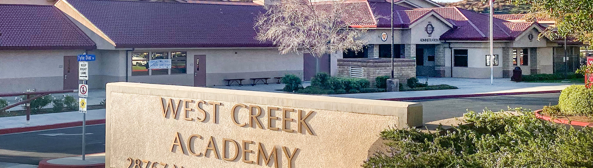 front view of the West Creek Academy