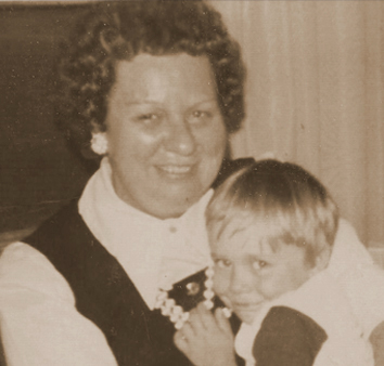 woman with a child holding a child