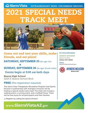 Special Needs Track Meet Flyer