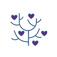icon heart tree