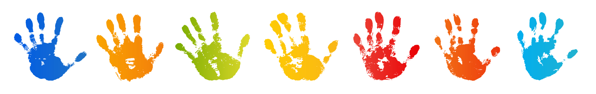 colorful children's hand prints