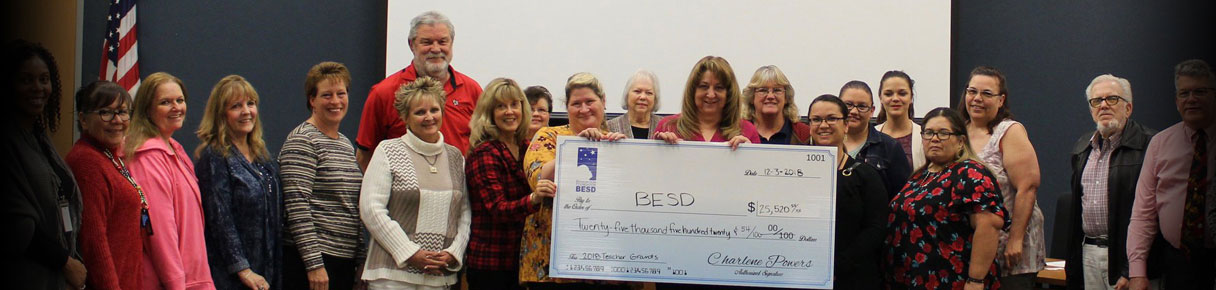 Presentation of Check to BESD for $25,520