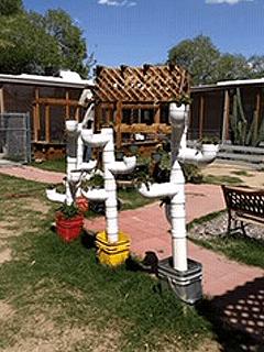 pvc pipe garden