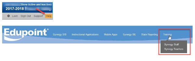 Screenshot of how to access webinars