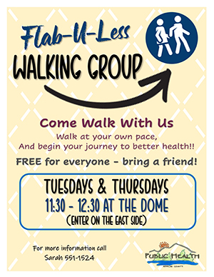 FAB-U-LESS Walking Group Flyer