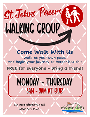 St. Johns Pacers Walking Group Flyer