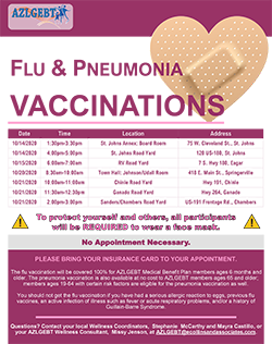 View the flu vaccination flyer