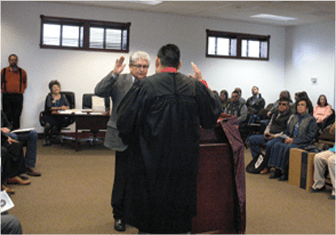 Apache citizens in the courtroom