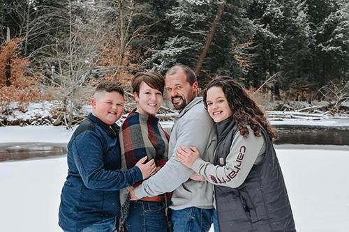 Kari Stake and her family now