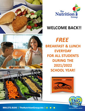 The Nutrition Group. Welcome back! Free breakfast and lunch everyday for all students during the 2021-2022 school year! 888-272-8106
