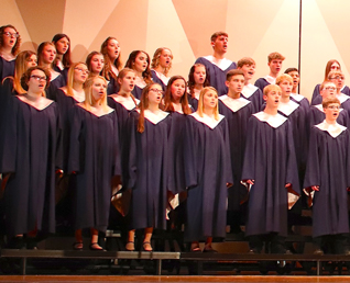 High School choir singing during a concert