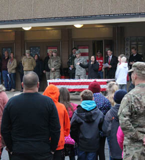 Students honoring veterans