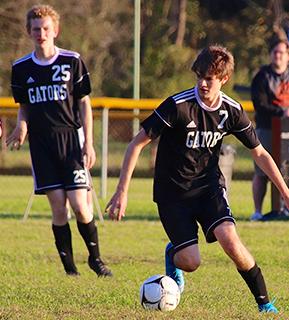 Port Allegany boys playing soccer