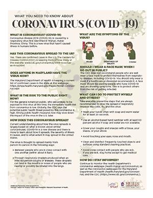 CORONAVIRUS - COVID-19 Flyer