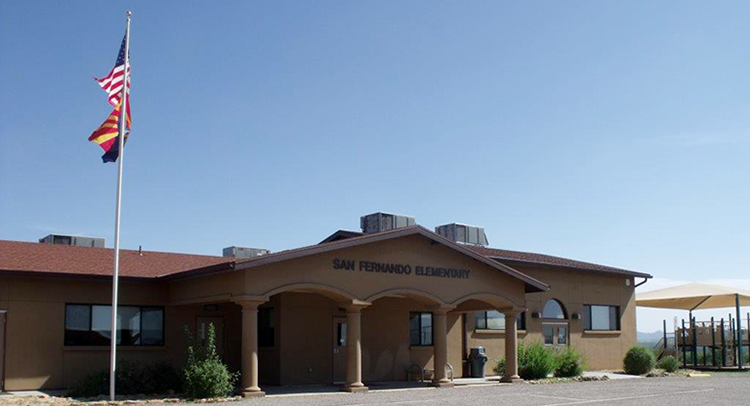 Front view of San Fernando Elementary School