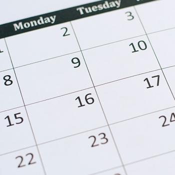 part of a calendar