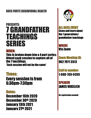 7 Grandfather Teaching Series on Zoom Flyer