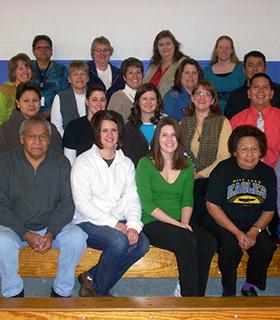 Group photo of Nett Lake's teachers and staff