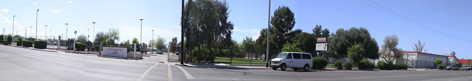 Panoramic view of the school campus