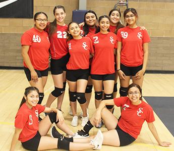 The wonderful Santa Cruz Varsity Volleyball team