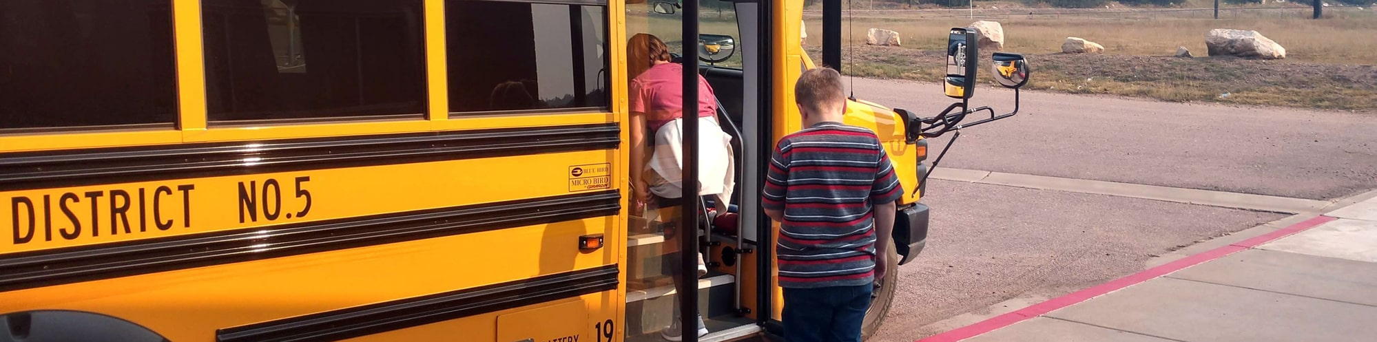 Chevelon Butte students getting on school bus