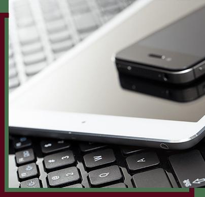 phone, ipad, and keyboard