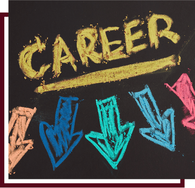 career written with chalk and chalk arrows