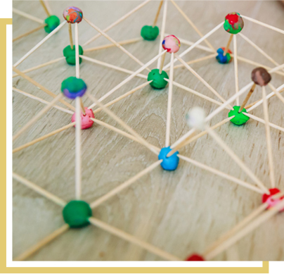 geometric shapes made with toothpicks