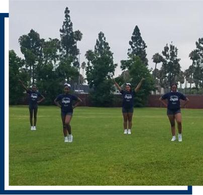 Cheerleaders practicing